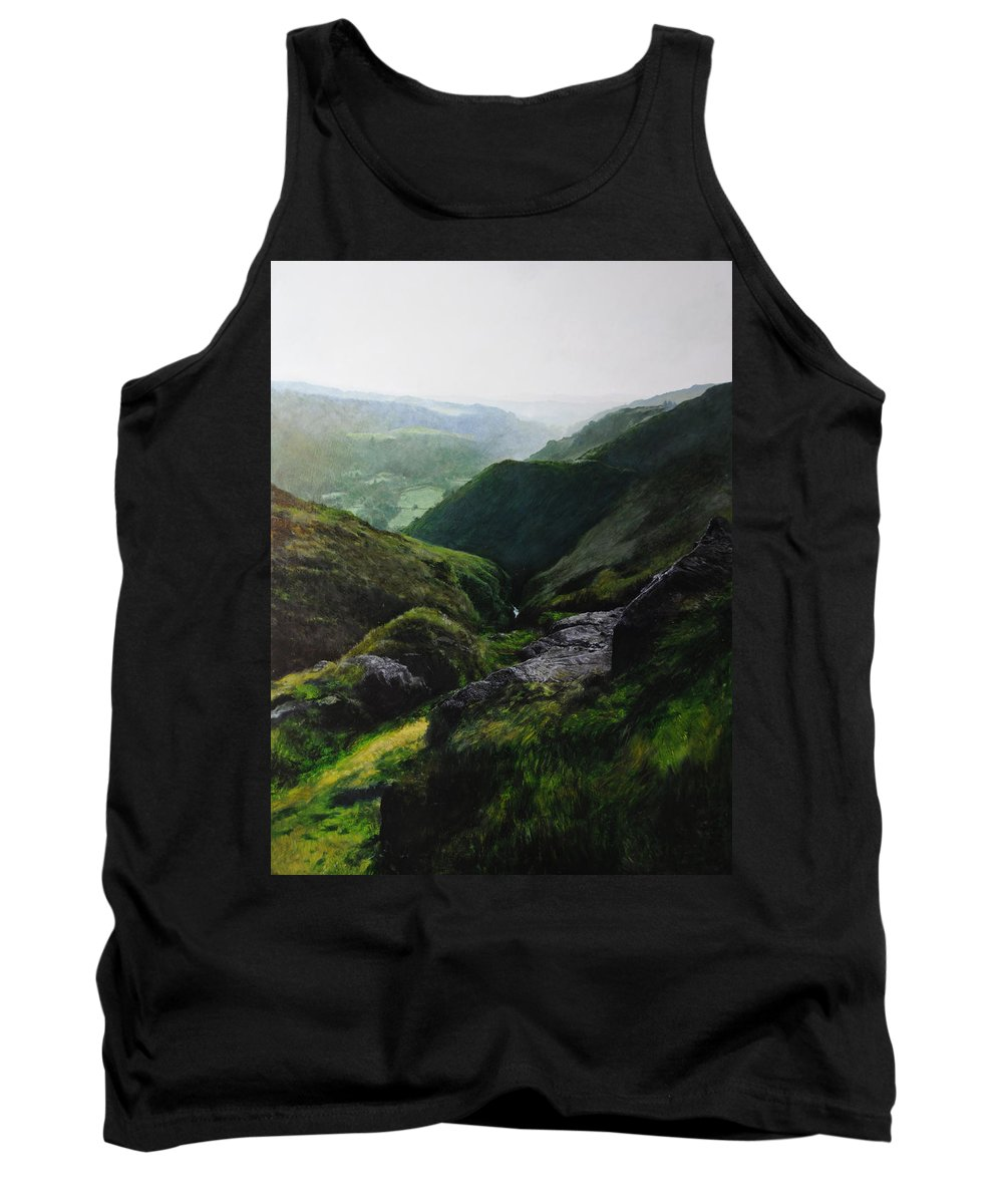 Landscape Tank Top featuring the painting View Towards The Coast by Harry Robertson