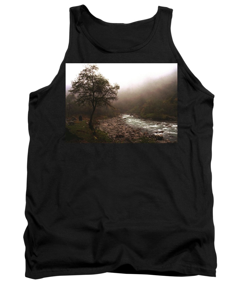 Tree Tank Top featuring the photograph Langtang Morning by Patrick Klauss