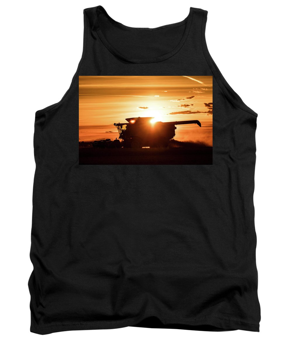 Harvester Tank Top featuring the photograph Last Bit Of Sun by Todd Klassy