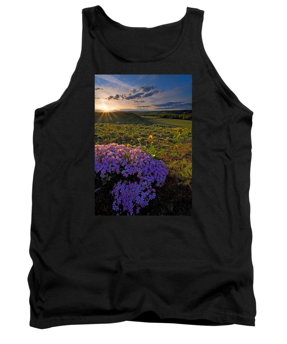 Wildflowers Tank Top featuring the photograph Last Light Of Spring by Mike Dawson