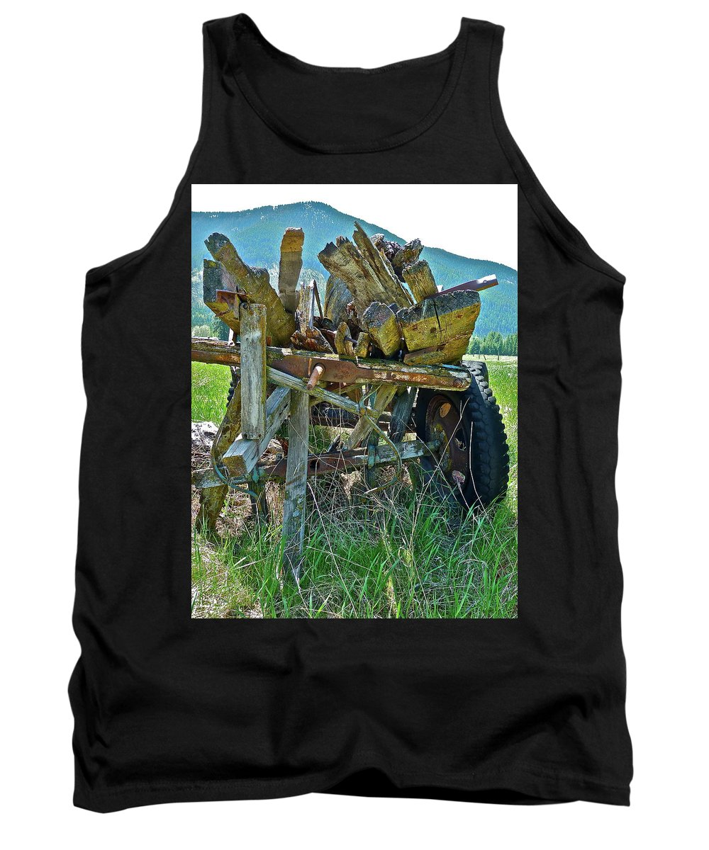 Antique Tank Top featuring the photograph Last Load by Diana Hatcher