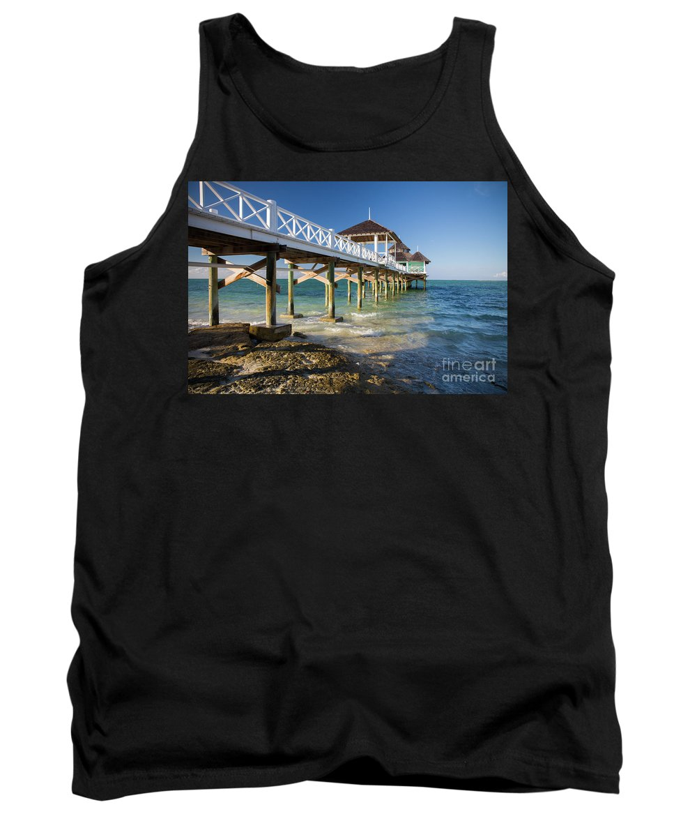 Kamalame Cay Tank Top featuring the photograph Late Afternoon At Kamalame Cay by Wendy Gunderson
