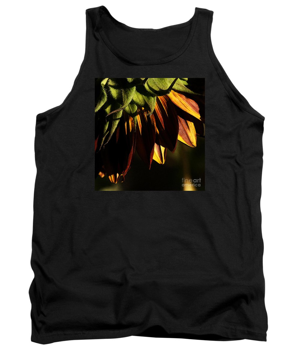 Sunflower Tank Top featuring the photograph Late Afternoon by Linda Shafer
