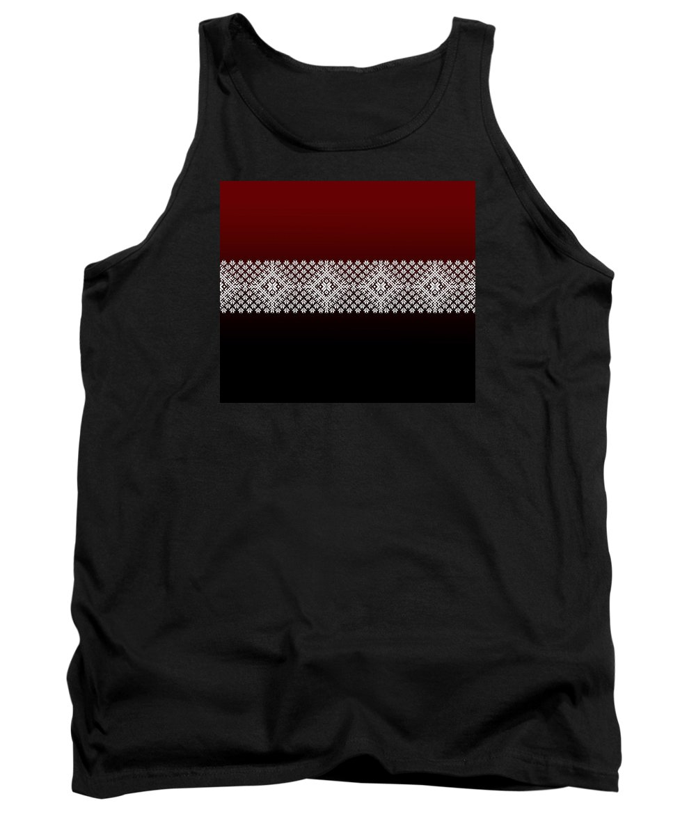 Red Tank Top featuring the photograph Latvian Pattern by Ilze Lucero