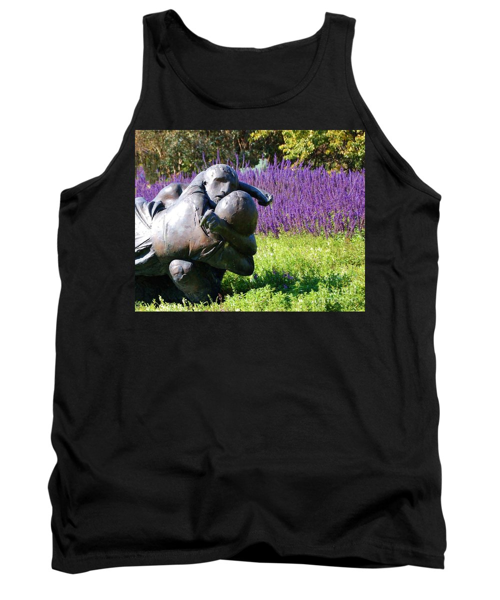 Statue Tank Top featuring the photograph Lavender Lovers by Debbi Granruth