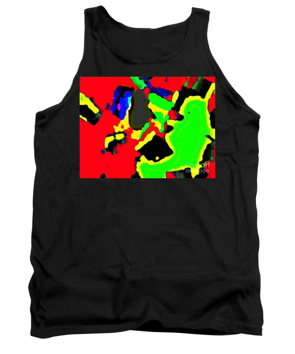 Abstract Tank Top featuring the photograph Layered Colors by Michael Potts