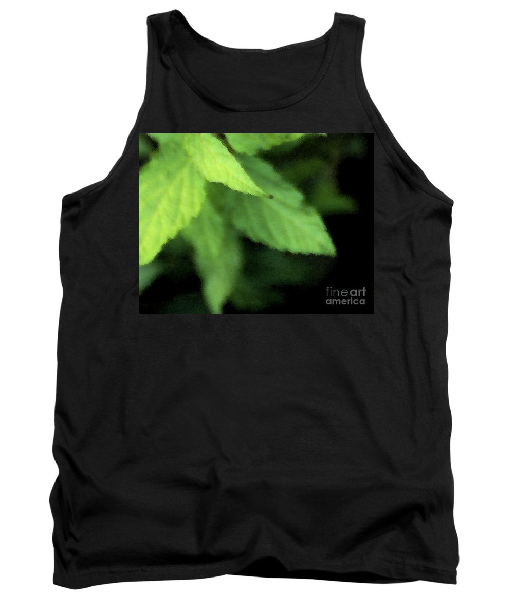 Leaves Tank Top featuring the photograph Layered Leaves by Linda Shafer