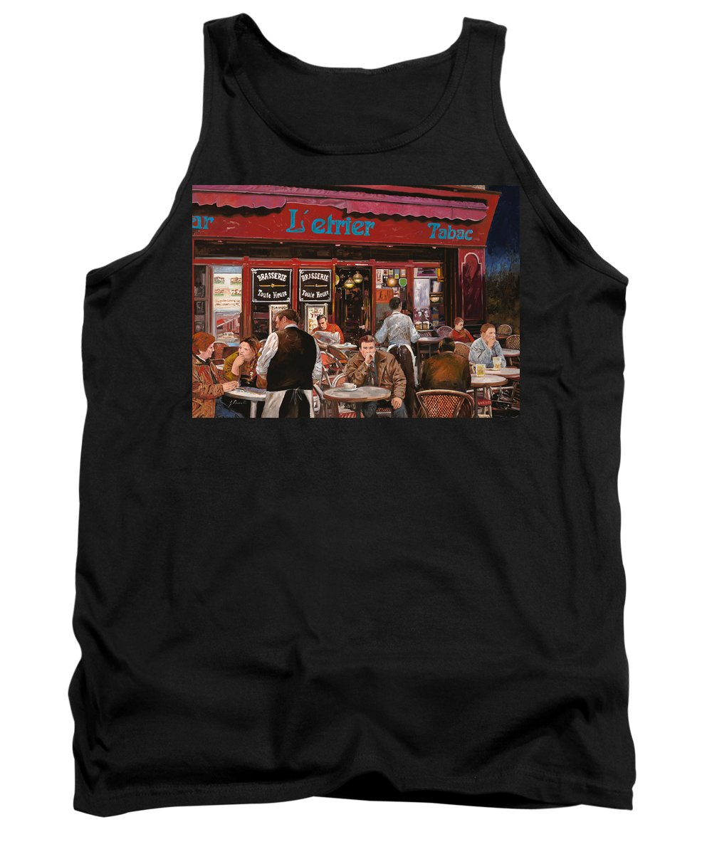Brasserie Tank Top featuring the painting Le Mani In Bocca by Guido Borelli
