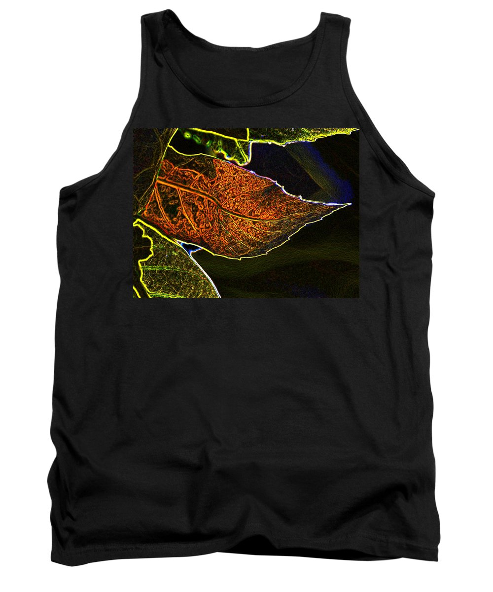 Digital Manipulation Tank Top featuring the photograph Leaf Interpretation by Norman Andrus