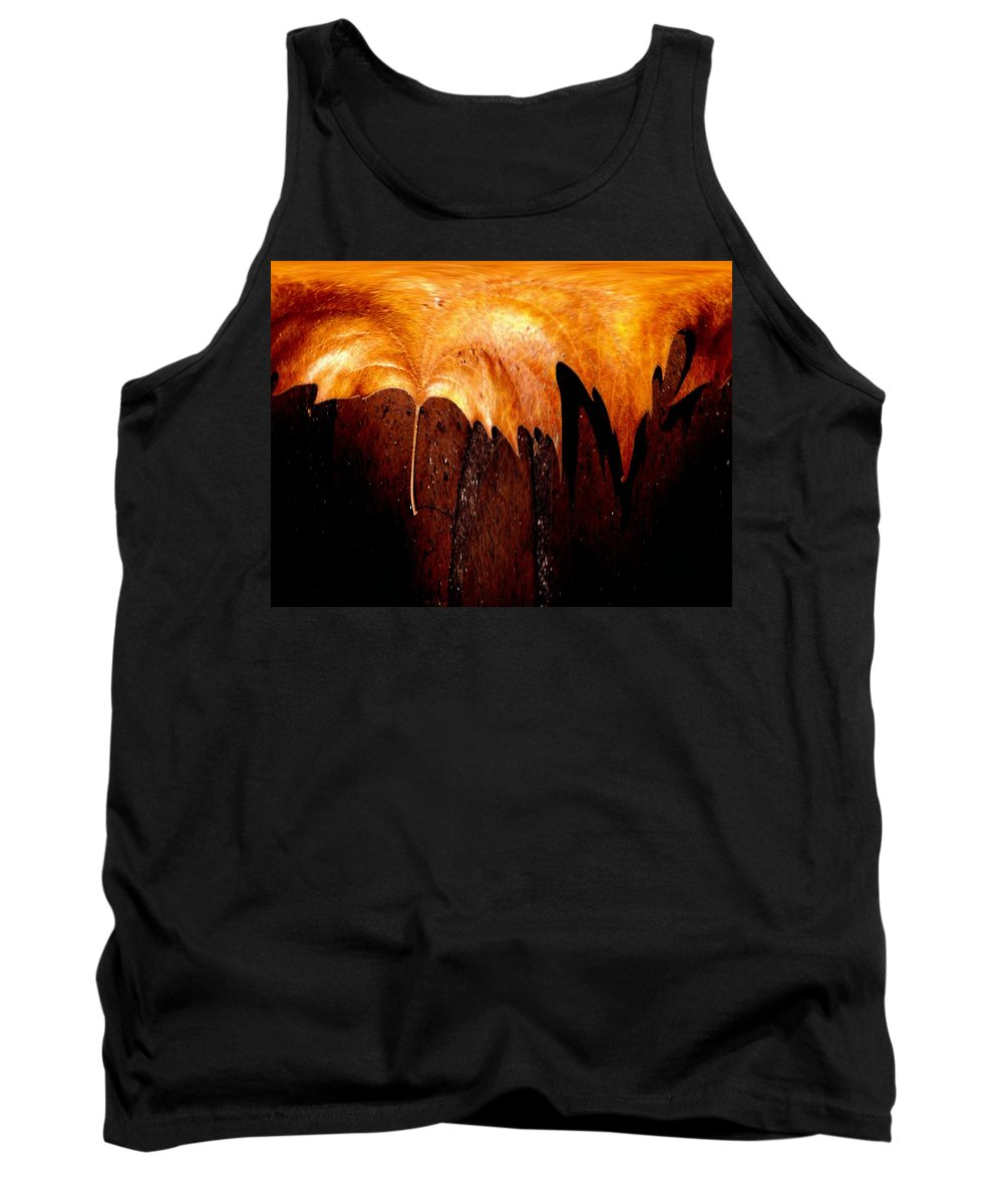 Leaf Tank Top featuring the photograph Leaf On Bricks 2 by Tim Allen