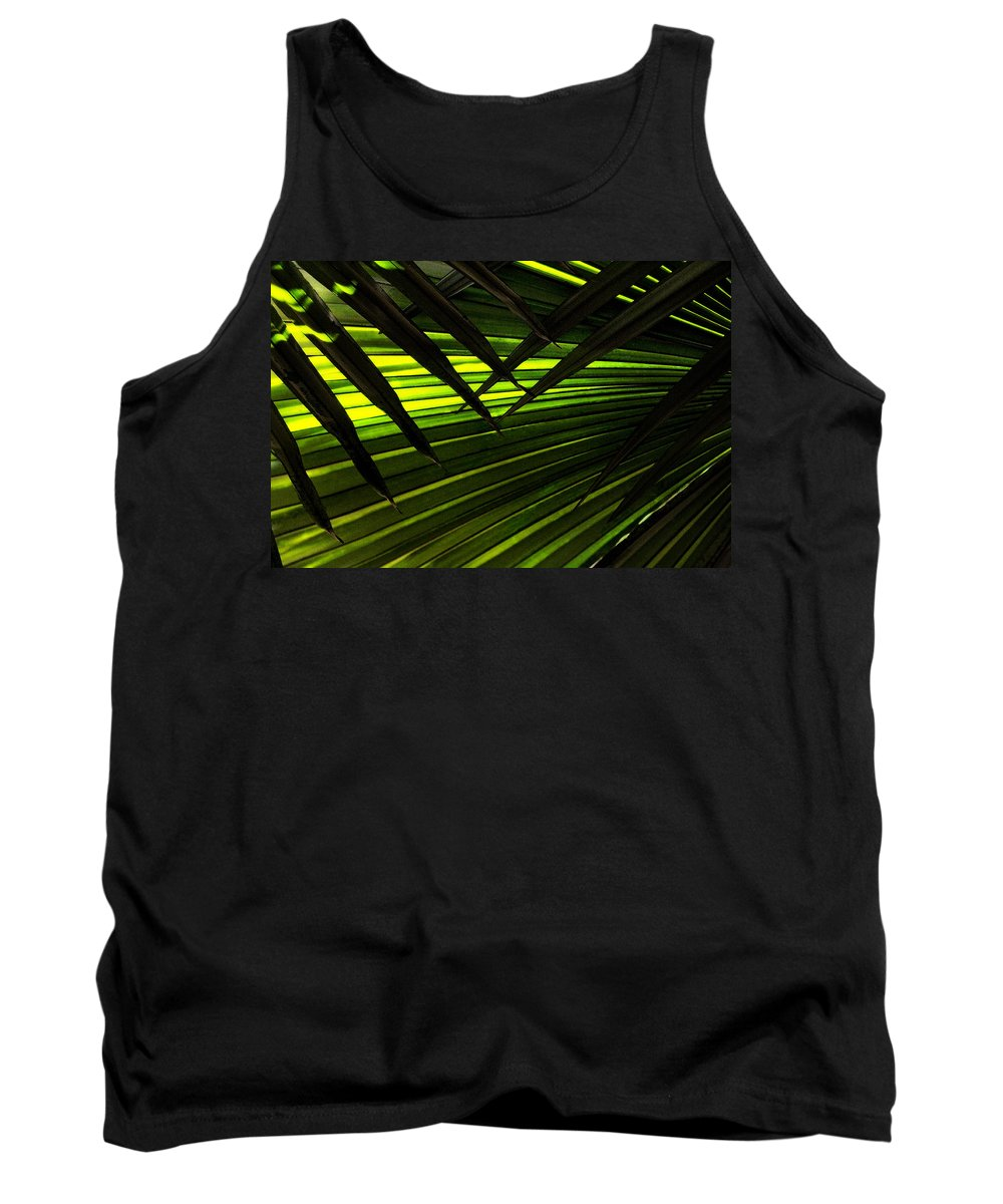 Palm Tank Top featuring the photograph Leaves Of Palm Color by Marilyn Hunt