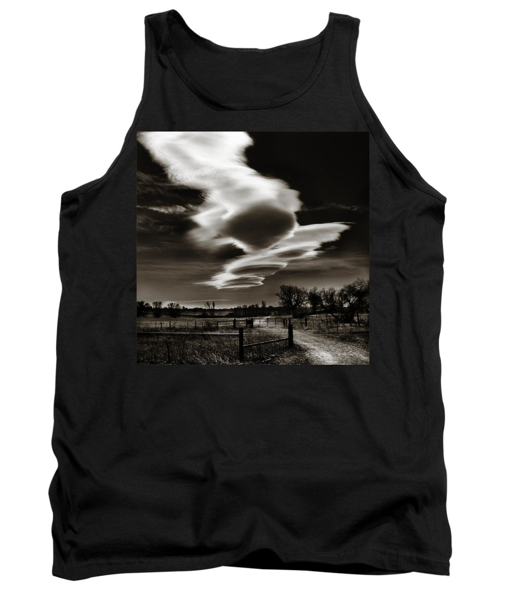 Clouds Tank Top featuring the photograph Lenticular Clouds Of Colorado by Marilyn Hunt