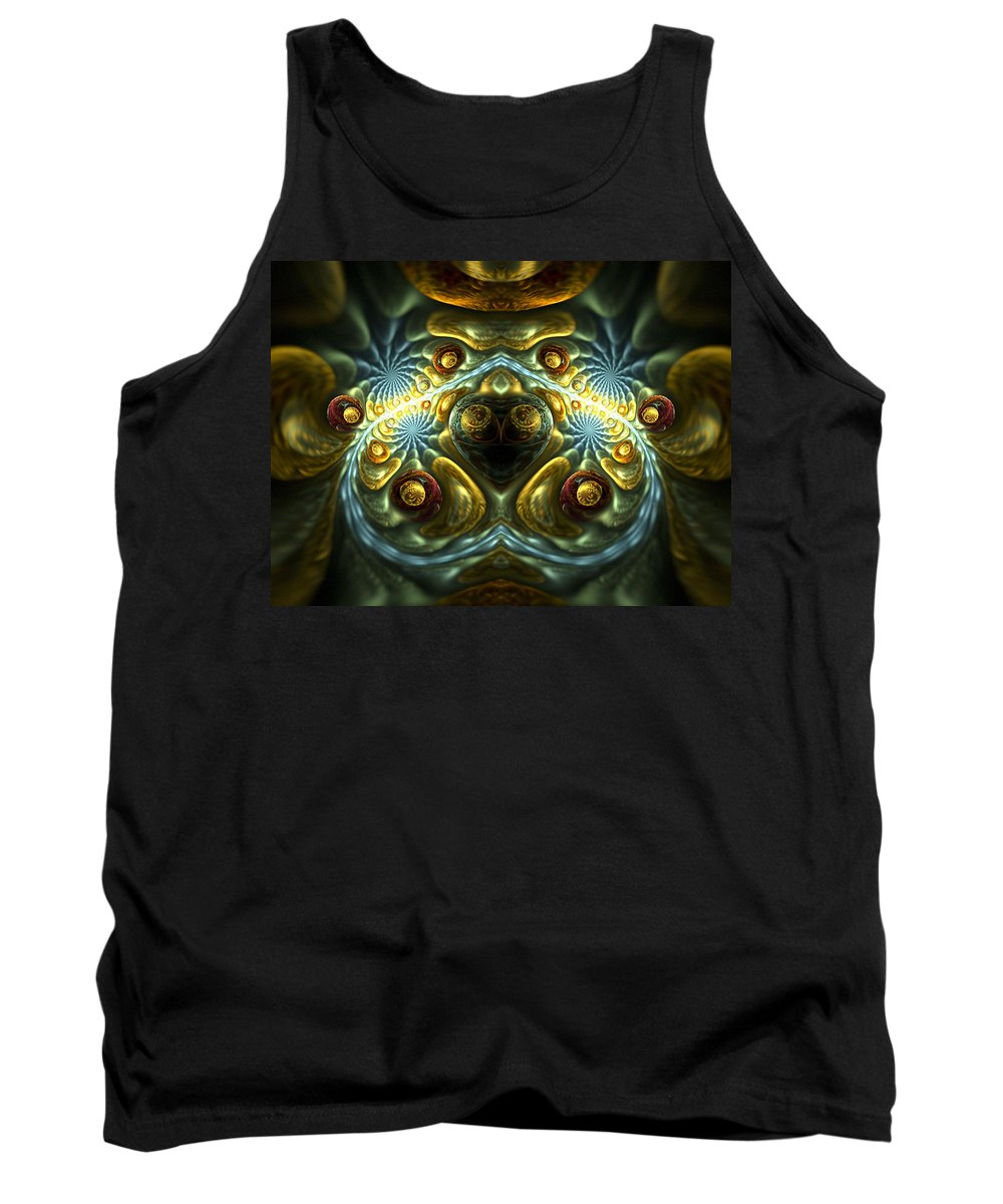 Fractal Tank Top featuring the digital art Let Your Feelings Flow by Amorina Ashton