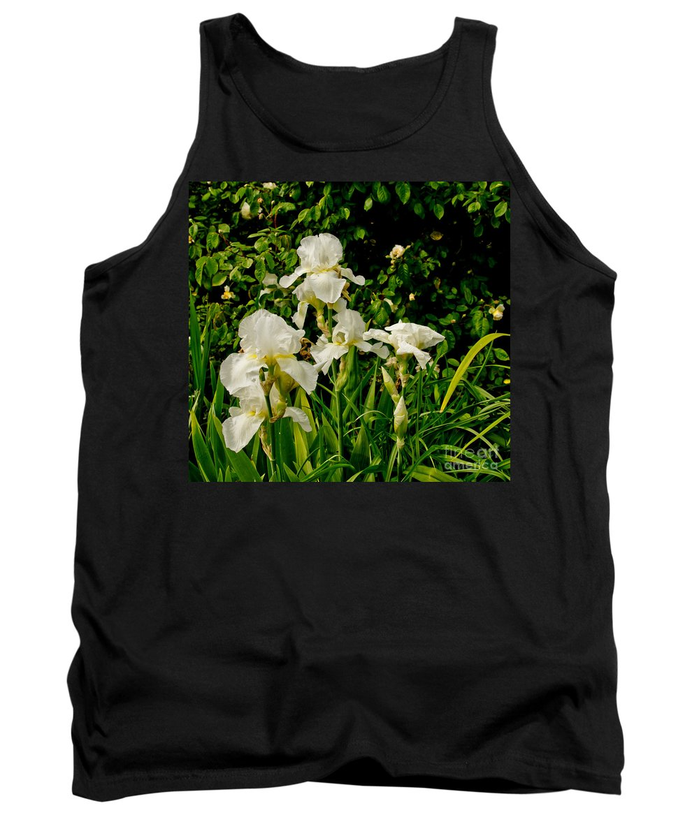 Iris Tank Top featuring the photograph Let's Dance. White. by Elena Perelman