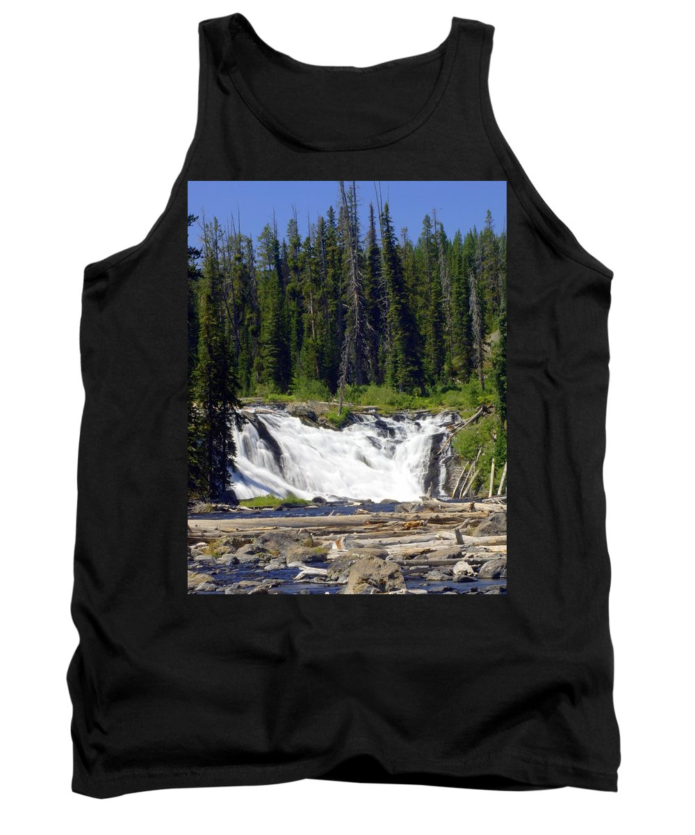 Lewis Falls Tank Top featuring the photograph Lewis Falls by Marty Koch