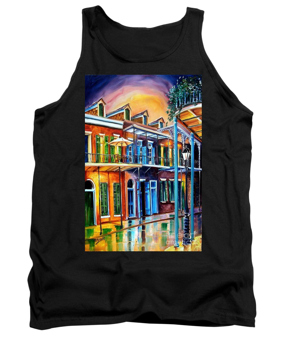 New Orleans Tank Top featuring the painting Life After Dark by Diane Millsap