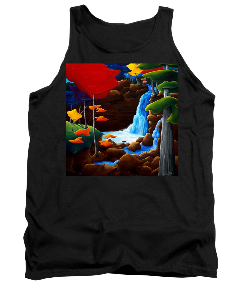 Landscape Tank Top featuring the painting Life In Progress by Richard Hoedl