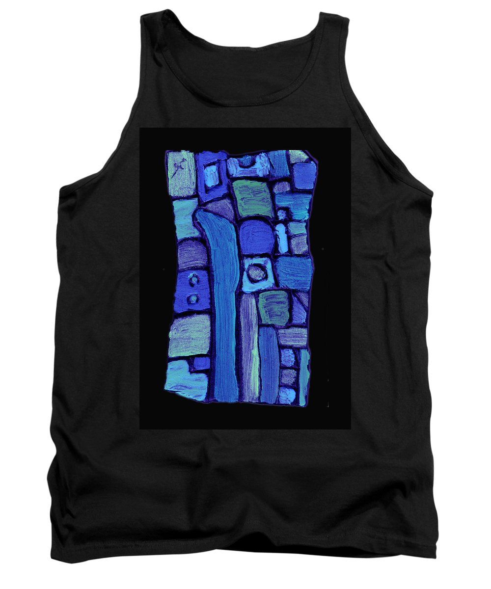 Abstract Tank Top featuring the painting Life In The Pond by Wayne Potrafka