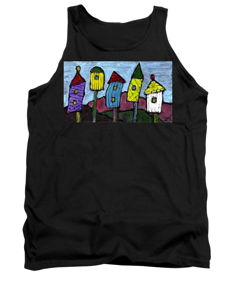 Bird Tank Top featuring the painting Life In The Subirds by Wayne Potrafka