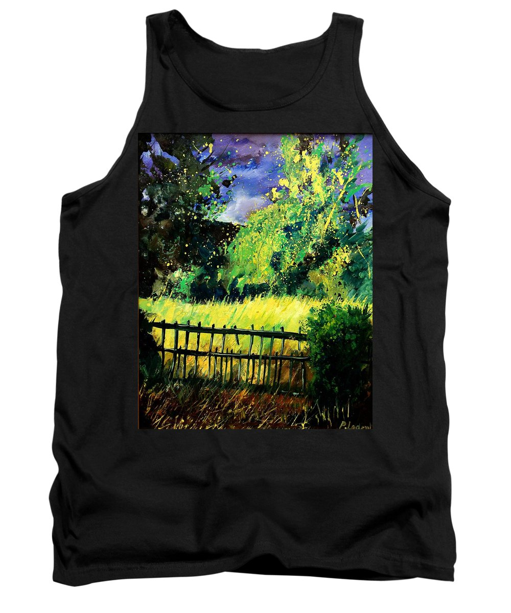 Spring Tank Top featuring the painting Light Before The Storm by Pol Ledent