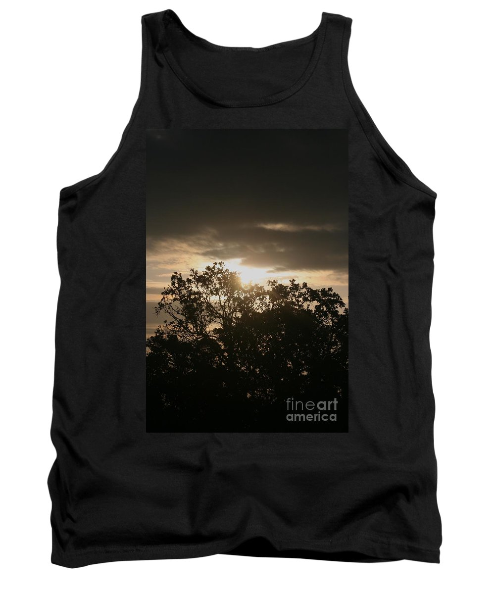 Light Tank Top featuring the photograph Light Chasing Away the Darkness by Nadine Rippelmeyer