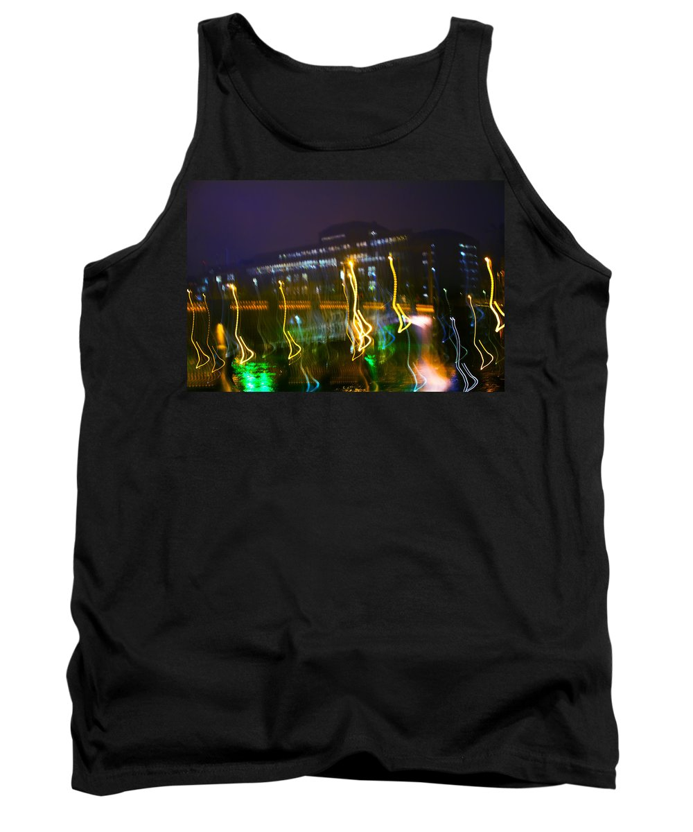 Abstract Tank Top featuring the photograph Light Ghosts by Alex Art and Photo