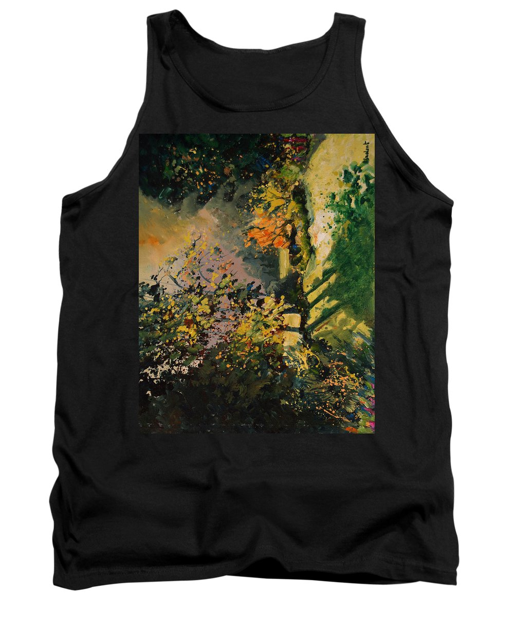 River Tank Top featuring the painting Light In The Wood by Pol Ledent