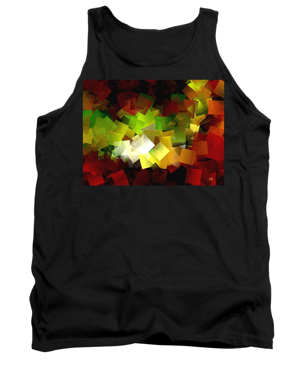 Kubic Tank Top featuring the digital art Light On The End Of Darkness by Helmut Rottler