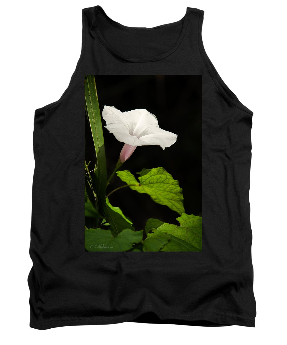 Flower Tank Top featuring the photograph Light Out Of The Dark by Christopher Holmes