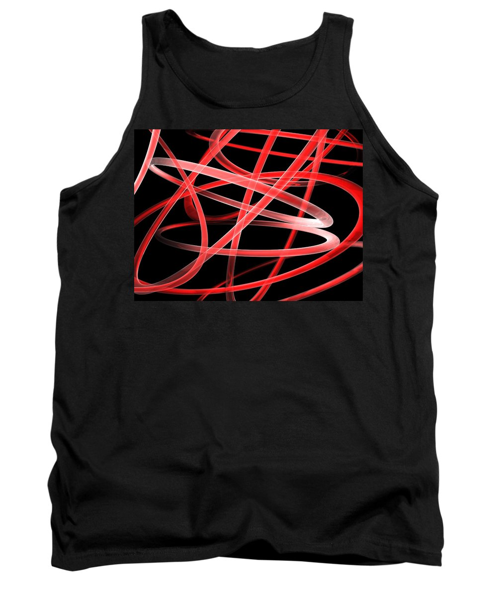 Scott Piers Tank Top featuring the painting Light Red by Scott Piers