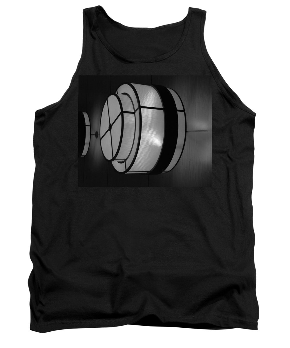 Black And White Tank Top featuring the photograph Lighted Wall In Black And White by Rob Hans