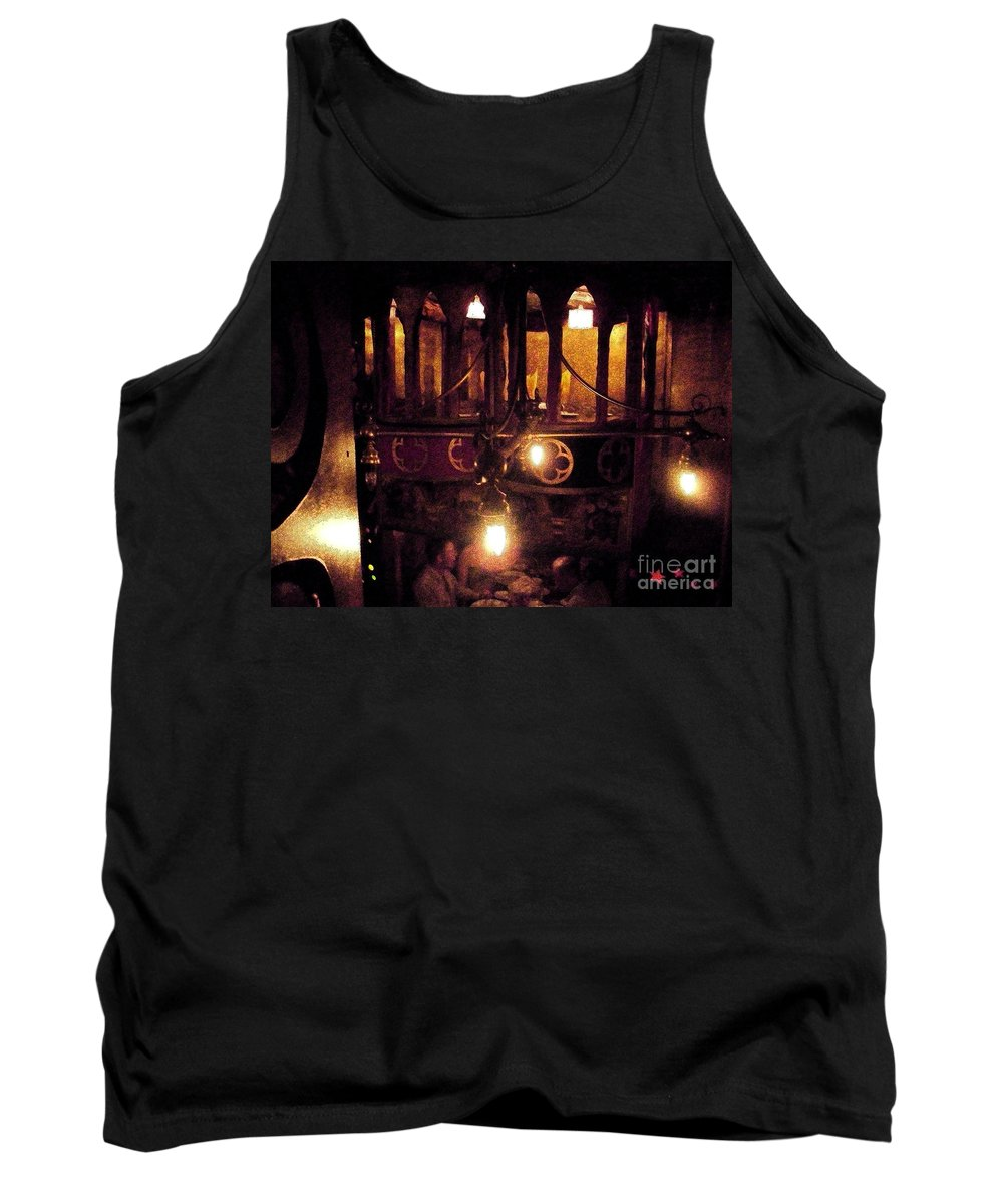 Restaurant Tank Top featuring the photograph Lighting by Janelle Dey