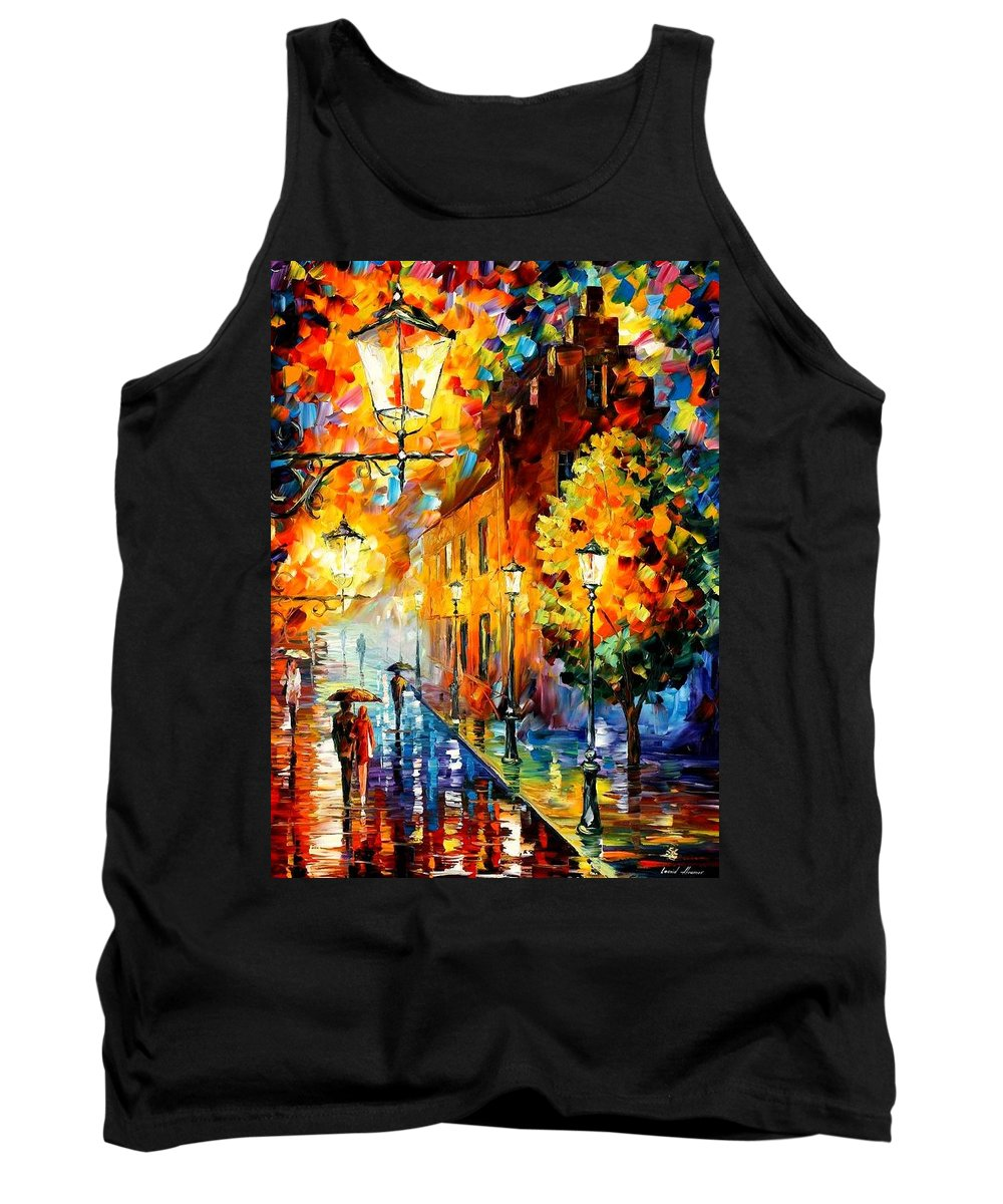 Afremov Tank Top featuring the painting Lights In The Night by Leonid Afremov