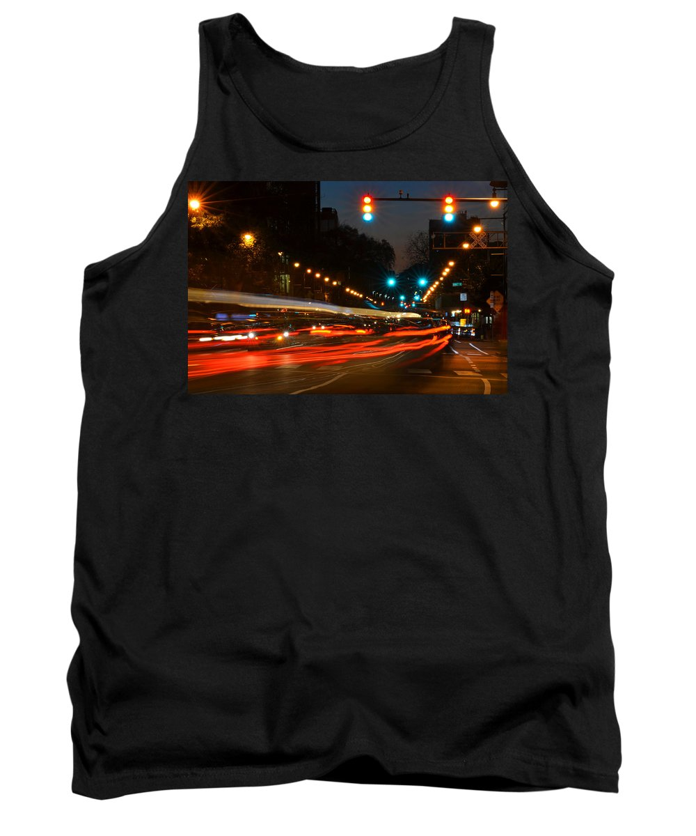 Cambridge Tank Top featuring the photograph Lights Of The City by Toby McGuire