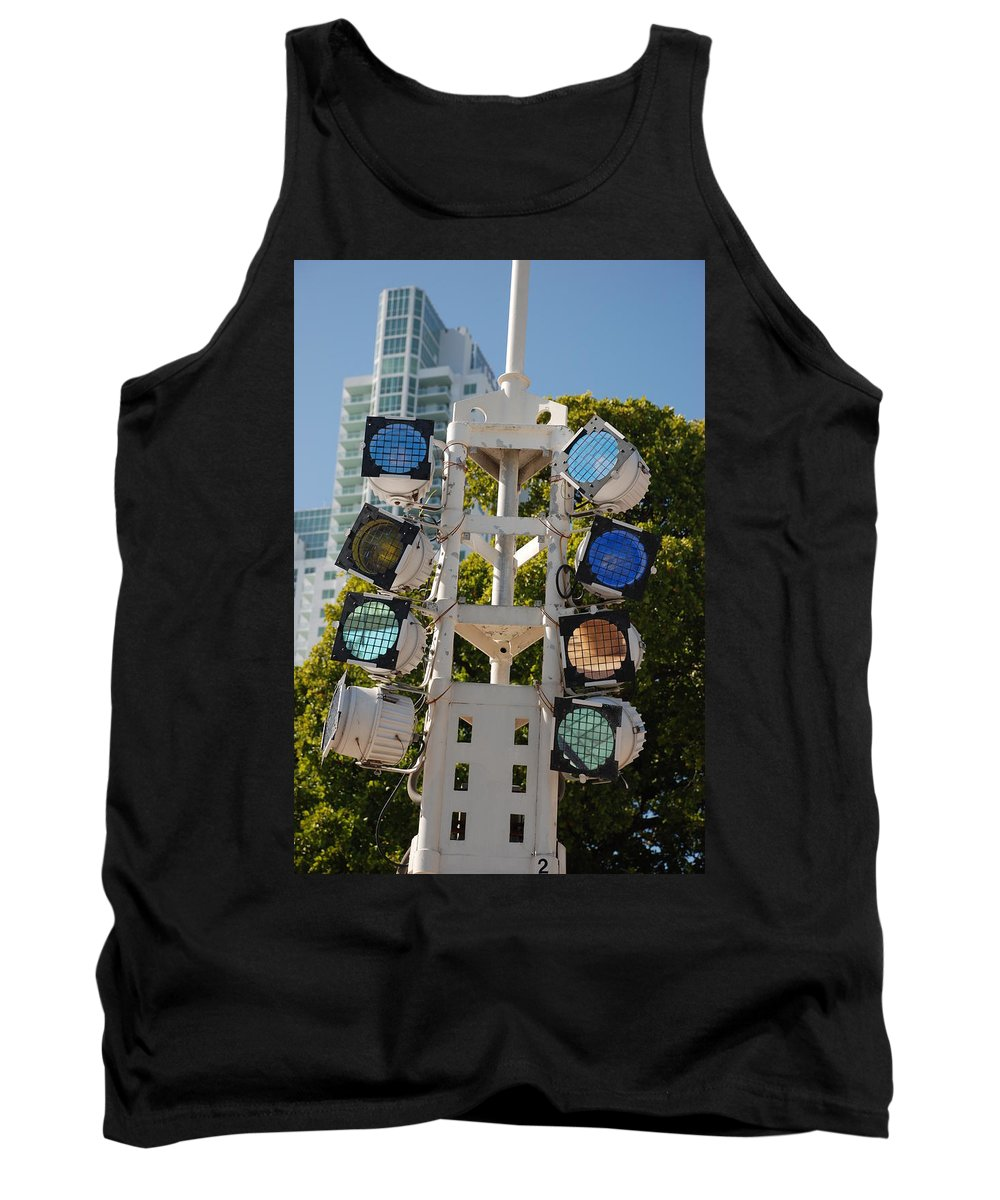 Lights Tank Top featuring the photograph Lights by Rob Hans