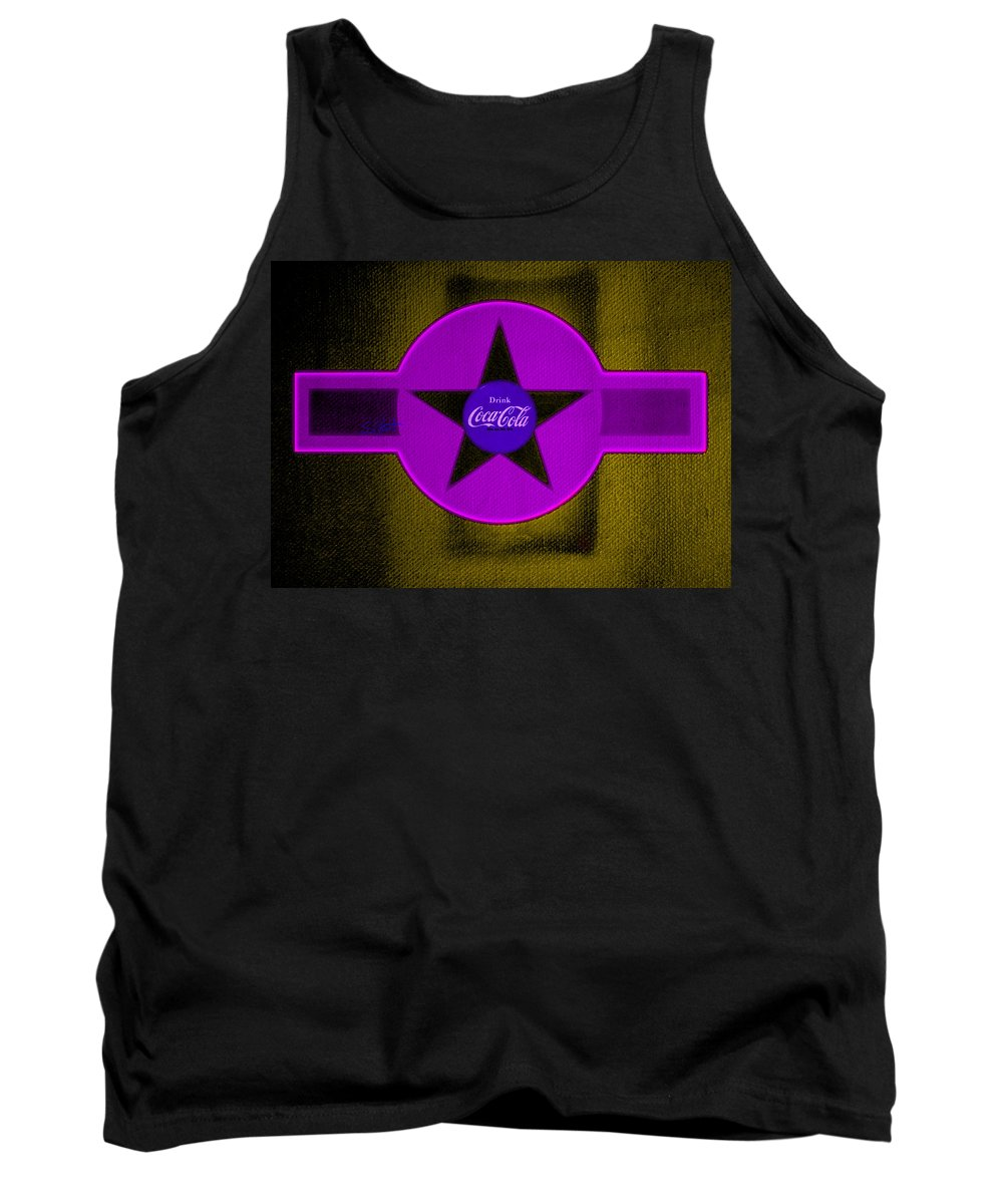 Label Tank Top featuring the painting Lilac On Orange by Charles Stuart