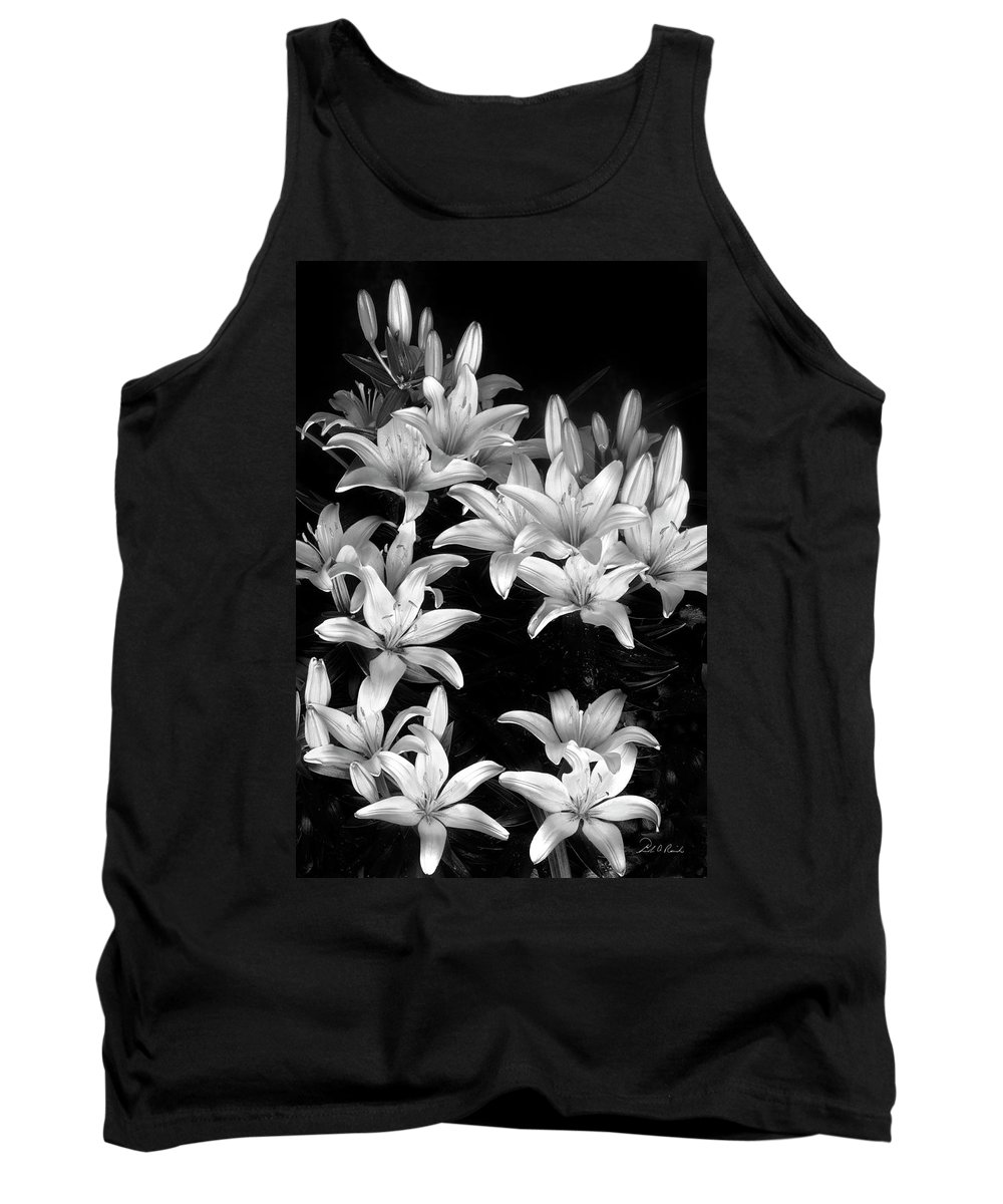 Photography Tank Top featuring the photograph Lilies In My Garden by Frederic A Reinecke
