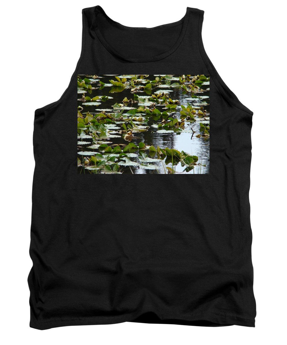 Lilly Pads Tank Top featuring the photograph Lilly Pads by Terry Anderson