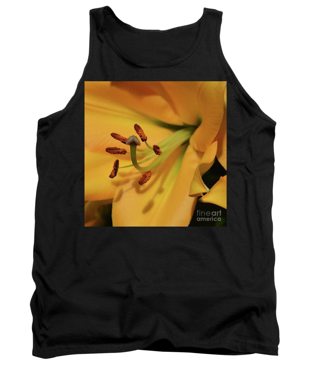 Flowers Tank Top featuring the photograph Lily Close Up by Cindy Manero