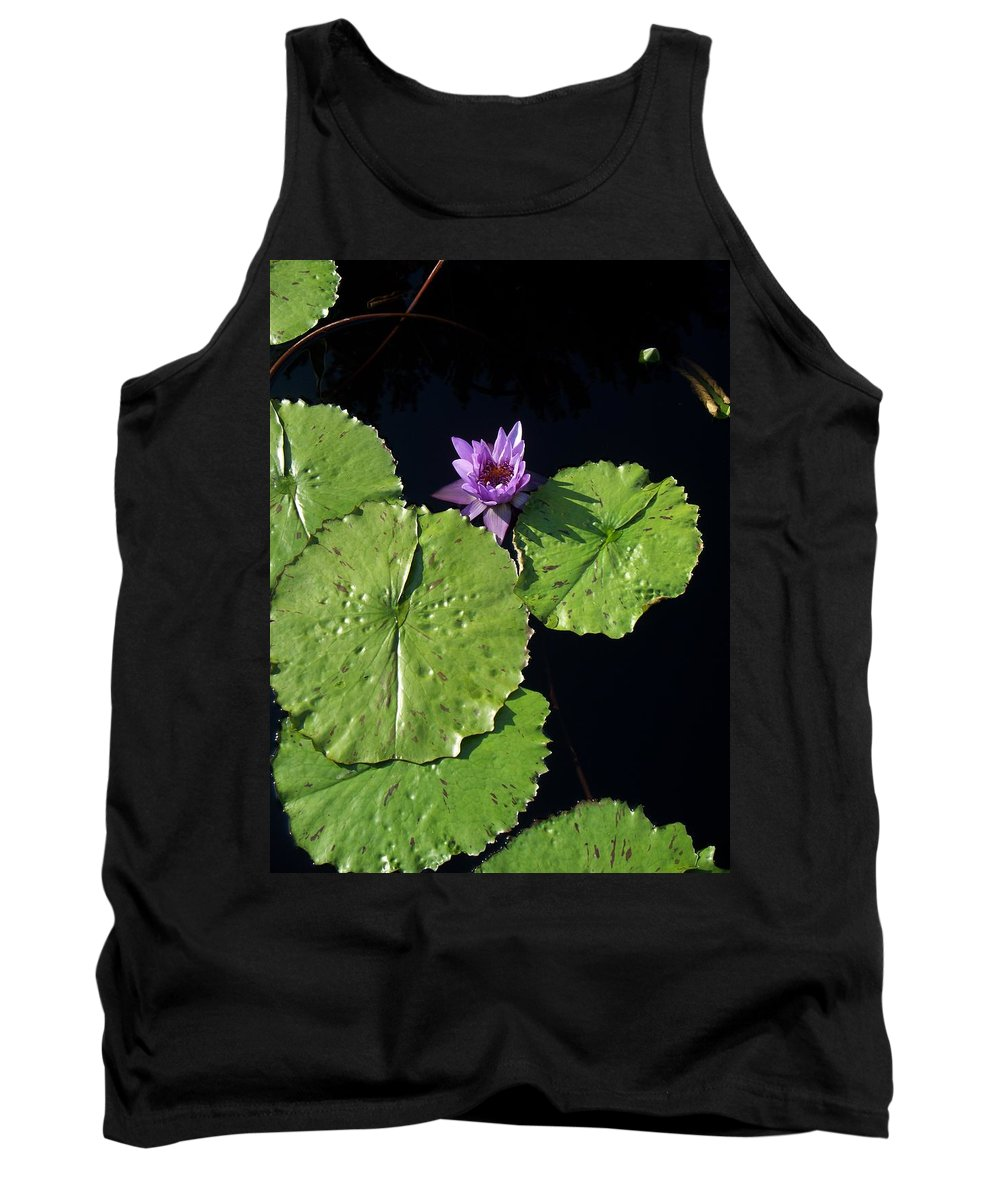 Water Lilies Tank Top featuring the painting Lily Pads From Above by Eric Schiabor