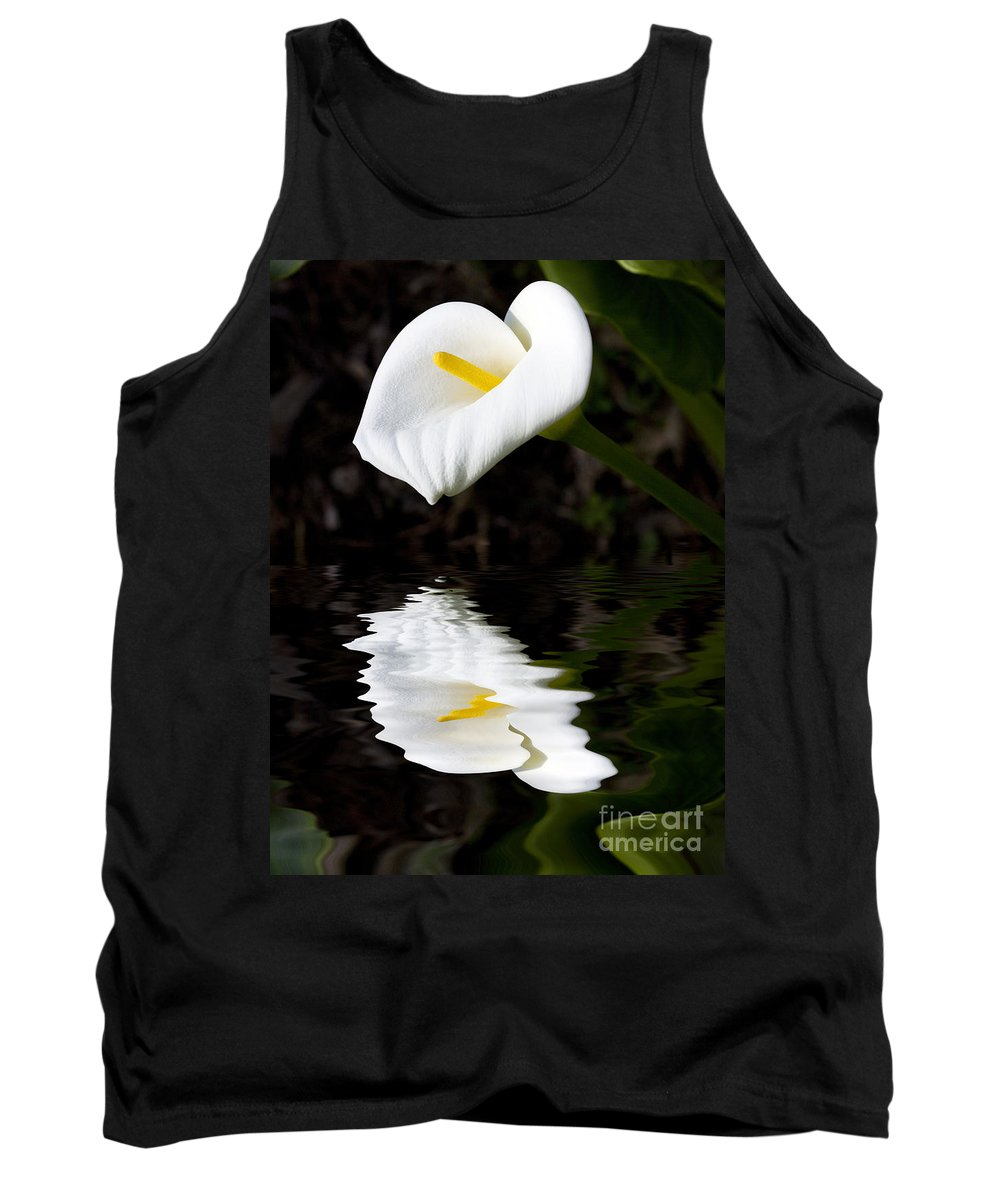 Lily Reflection Flora Flower Tank Top featuring the photograph Lily reflection by Sheila Smart Fine Art Photography