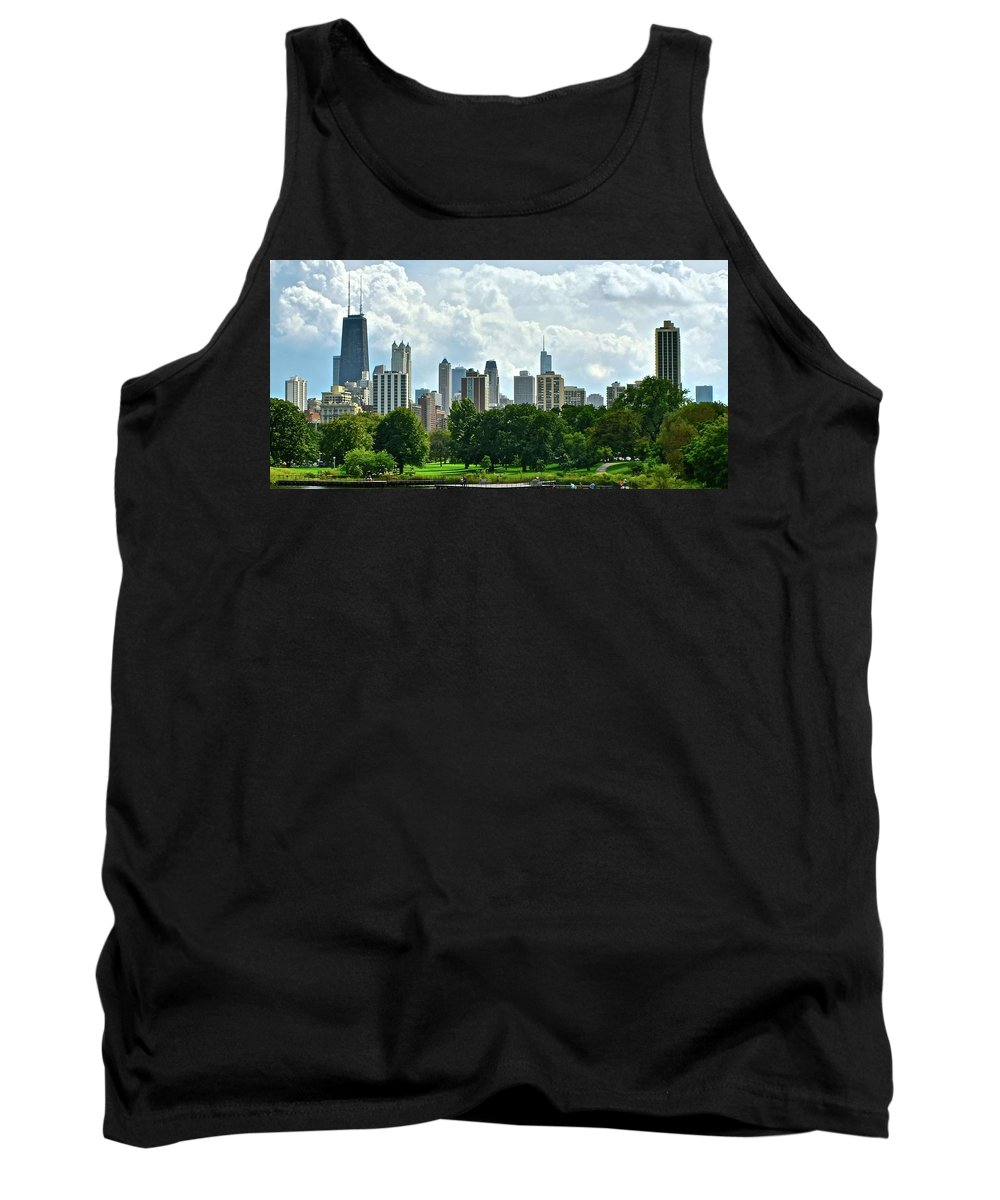 Chicago Tank Top featuring the photograph Lincoln Park Pano by Frozen in Time Fine Art Photography