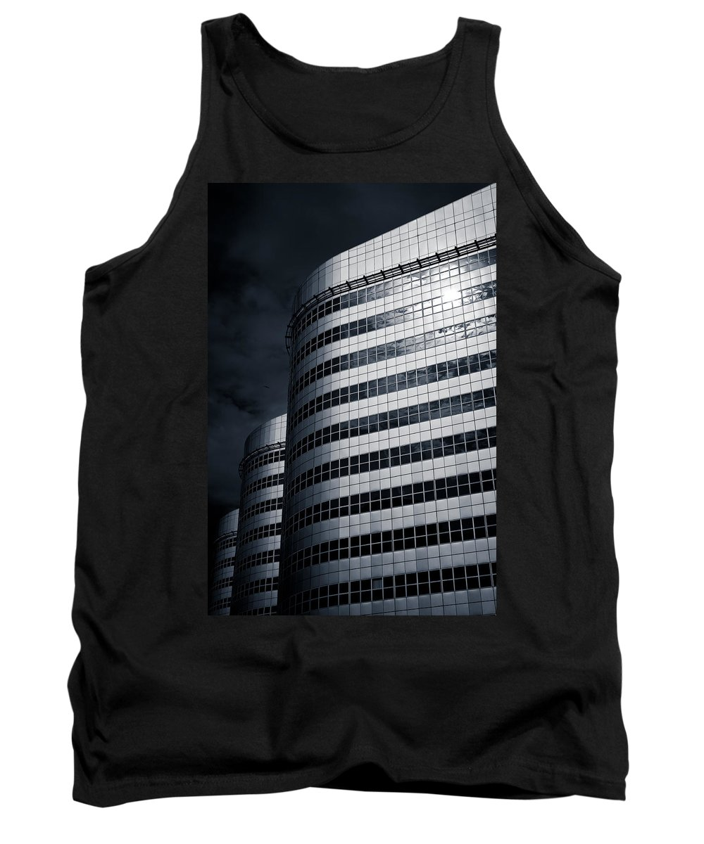 Architecture Tank Top featuring the photograph Lines And Curves by Dave Bowman