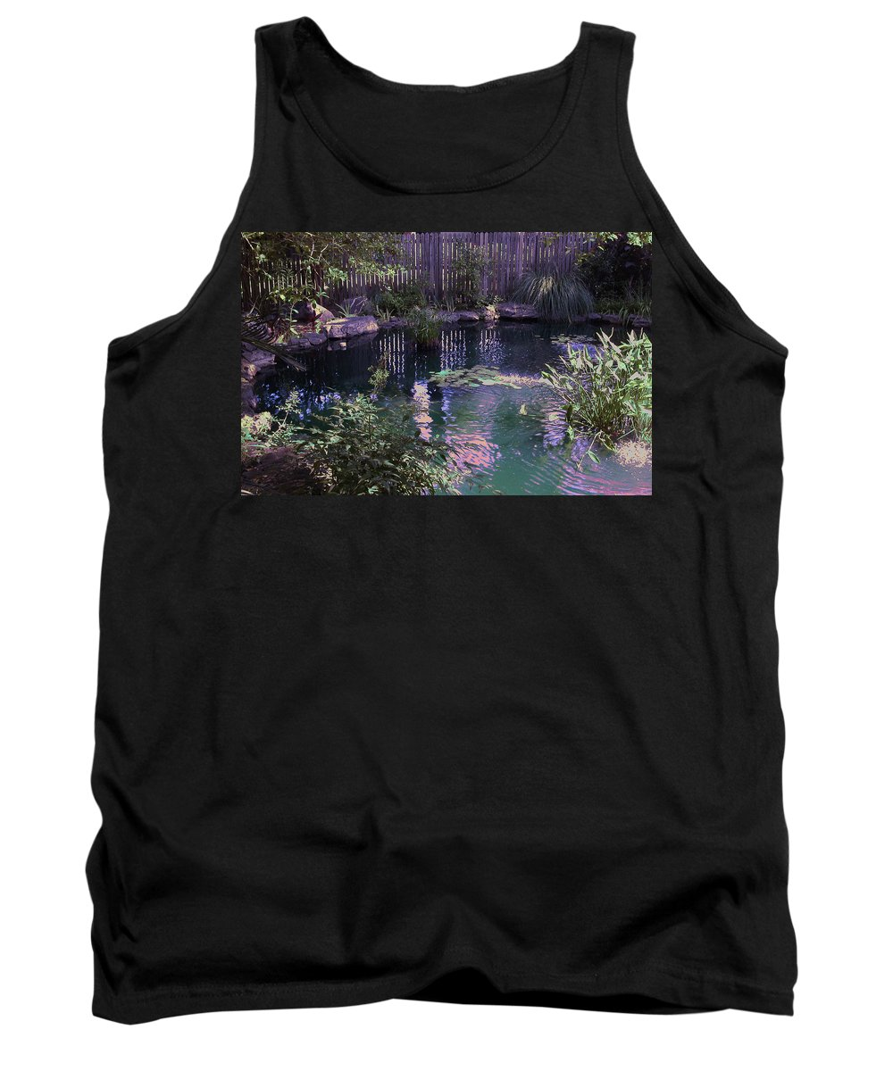Garden Tank Top featuring the photograph Lines by Anne Cameron Cutri