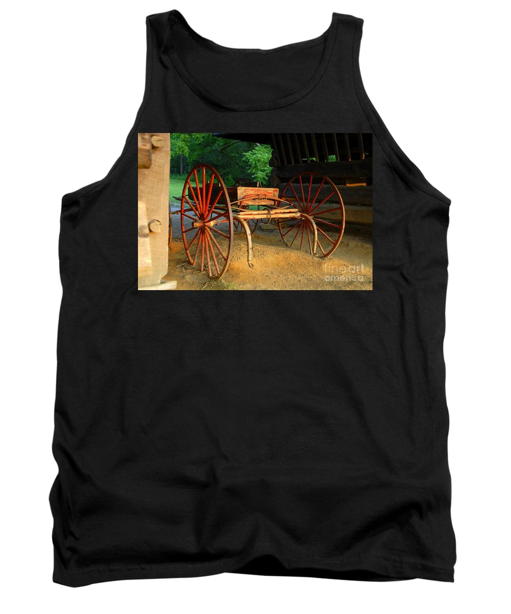 Red Tank Top featuring the photograph Little Red Buggy by David Lee Thompson