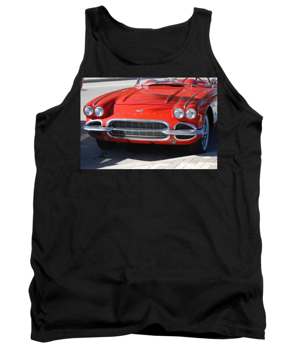Corvette Tank Top featuring the photograph Little Red Corvette by Rob Hans