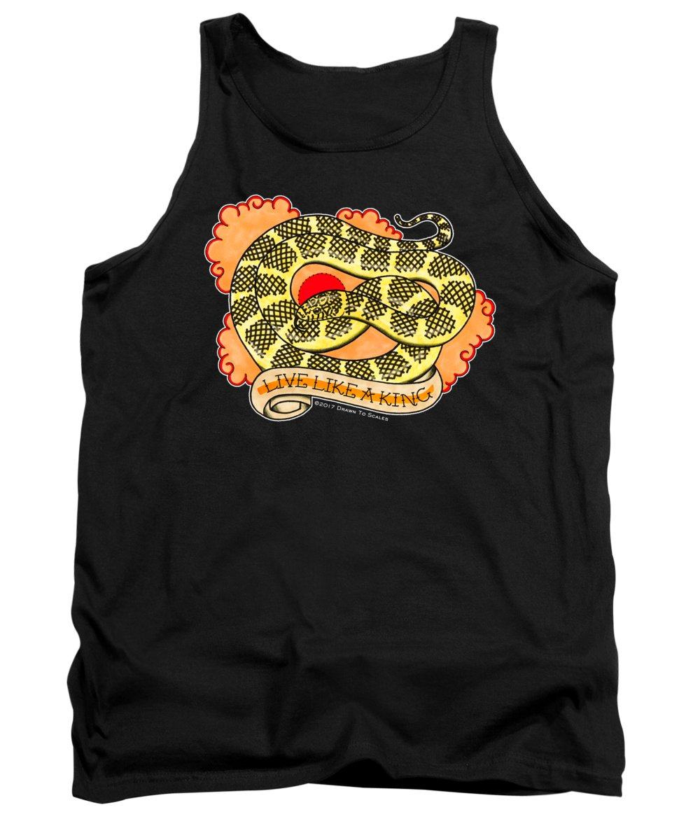 Snake Tank Top featuring the drawing Live Like A Florida Kingsnake by Donovan Winterberg