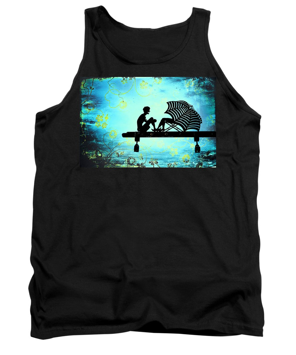 Beach Tank Top featuring the photograph Locks Of Love by Evelina Kremsdorf