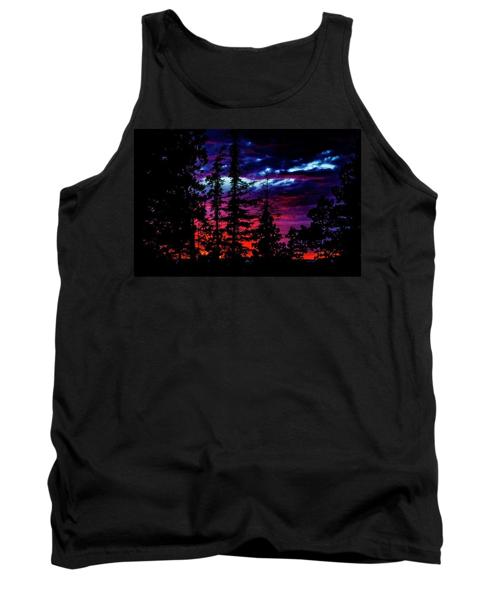 Sunset Tank Top featuring the photograph Lodge Sunset by Ed Ostrander