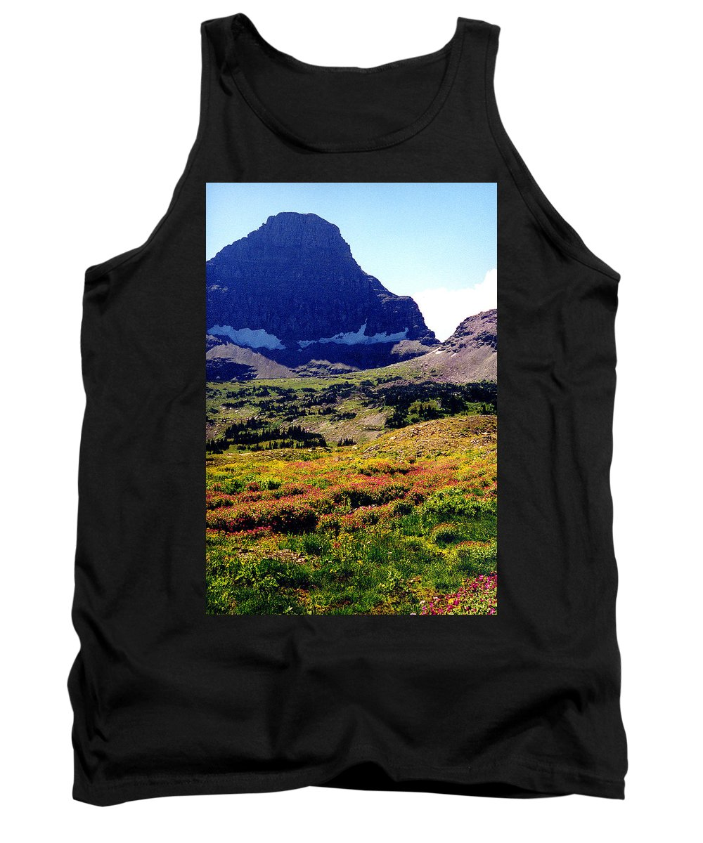Glacier National Park Tank Top featuring the photograph Logans Pass In Glacier National Park by Nancy Mueller